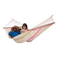 LA SIESTA® Colada Kiwi - Weather-Resistant Double Spreader Bar Hammock