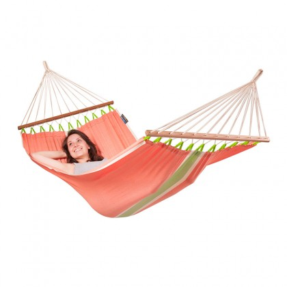 LA SIESTA® Fruta Mango - Weather-Resistant Single Spreader Bar Hammock