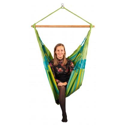 LA SIESTA® Domingo Lime - Weather-Resistant Comfort Hammock Chair