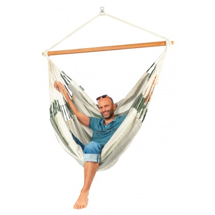 LA SIESTA® Domingo Cedar - Weather-Resistant Kingsize Hammock Chair