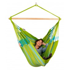 LA SIESTA® Domingo Lime - Weather-Resistant Kingsize Hammock Chair