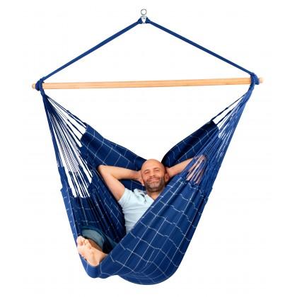 LA SIESTA® Domingo Marine - Weather-Resistant Kingsize Hammock Chair