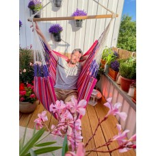LA SIESTA® Habana Flamingo - Organic Cotton Comfort Hammock Chair