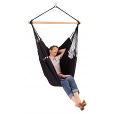LA SIESTA® Habana Onyx - Organic Cotton Comfort Hammock Chair