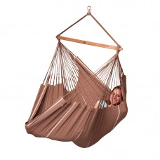 LA SIESTA® Habana Chocolate - Organic Cotton Kingsize Hammock Chair