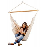 LA SIESTA® Habana Latte - Organic Cotton Kingsize Hammock Chair