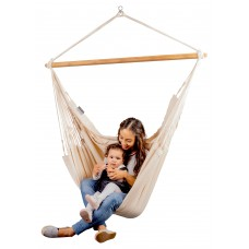 LA SIESTA® Habana Latte - Organic Cotton Kingsize Hammock Chair