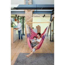 LA SIESTA® Habana Flamingo - Organic Cotton Kingsize Hammock Chair