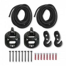 LA SIESTA® CasaMount Black - (Multipurpose) Suspension Set for Hammocks